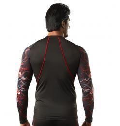 Discover Omtex Compression Top - Red Shock sporting product Online in Mumbai - Sportobuddy.com