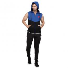 Discover Omtex Sleeveless Hoodie - Blue sporting product Online in Mumbai - Sportobuddy.com
