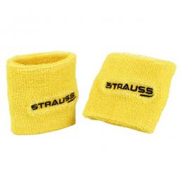 Discover Strauss Wrist Band Pack of 2 - Yellow sporting product Online in Mumbai - Sportobuddy.com