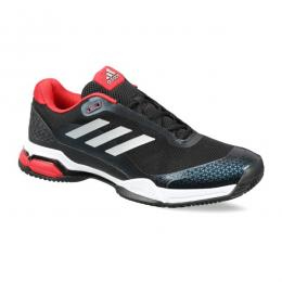 Discover Adidas Mens Barricade Club Tennis Shoes - Black/Silver/White sporting product Online in Mumbai - Sportobuddy.com