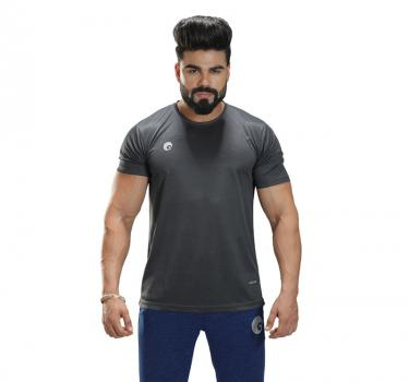 Discover Omtex Sports Mens T-Shirt - Grey sporting product Online in Mumbai - Sportobuddy.com